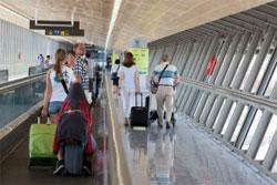 Passengers at Malaga airport