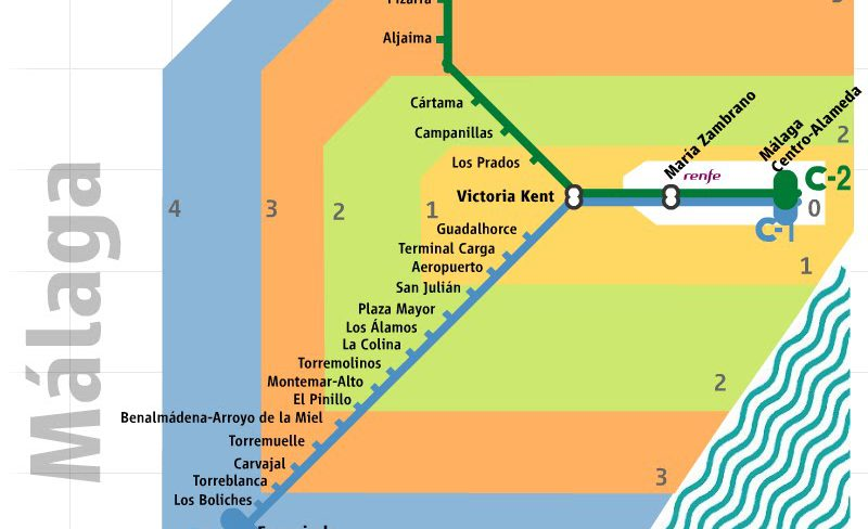 Suburban train at Malaga airport every 20 minutes ... on map of tarifa, map of the m25, map of valencia, map of puerto banus, map of almeria, map of torremolinos, map of zurich train station, map of cordoba, map of cadiz, map of ibiza, map of burgos, map of granada, map of seville, map of tarragona, map of oviedo, map of madrid, map of lloret de mar, map of barcelona,