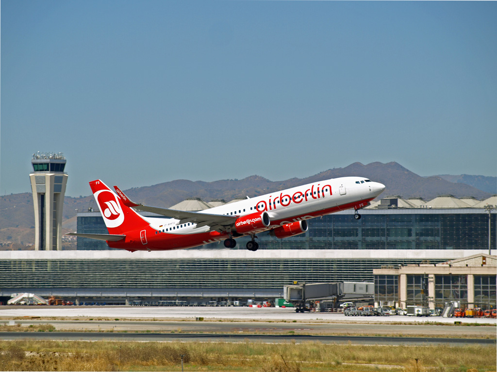 airberlin flies from malaga to 17 destinations in germany. Black Bedroom Furniture Sets. Home Design Ideas