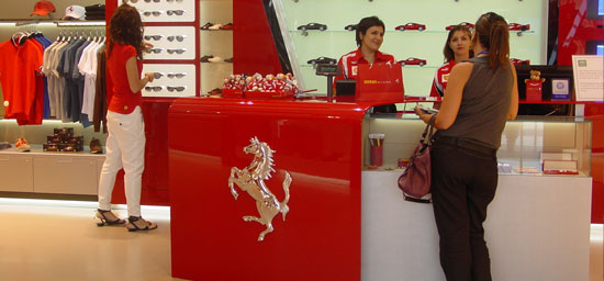 Ferrari shop at Malaga airport