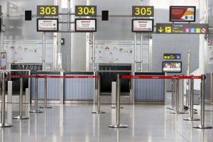 Closed-Iberia-counters-at-Malaga-airport