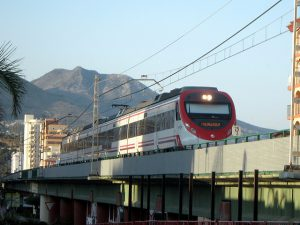 Suburban train at Fuengirola- Los Boliches