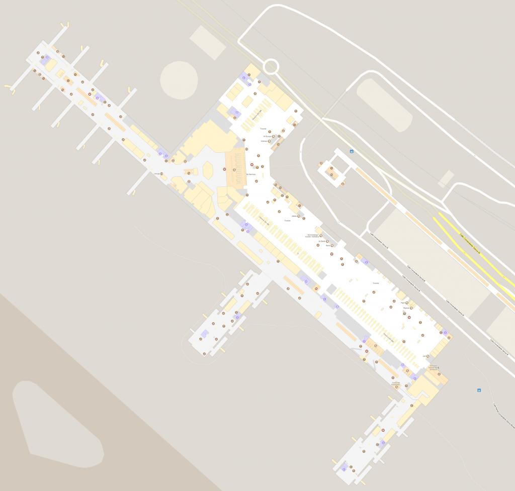 malaga airport terminal 3 map