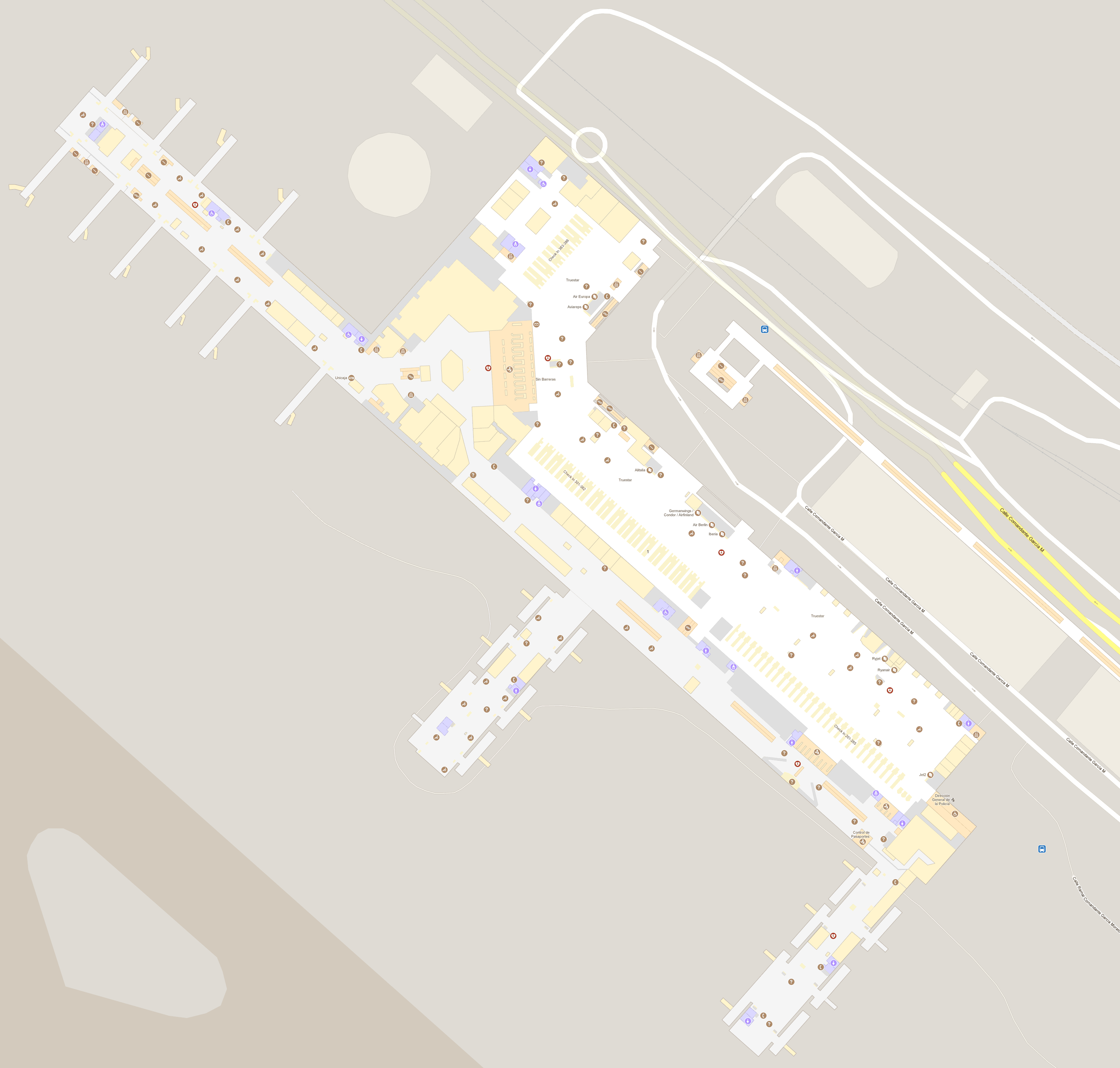 malaga karta Malaga Airport Maps | Location of Malaga Airport malaga karta